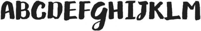 Gliny Brush otf (400) Font UPPERCASE