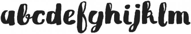 Gliny Brush otf (400) Font LOWERCASE