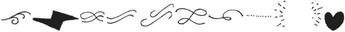 Gliny Extras otf (400) Font OTHER CHARS