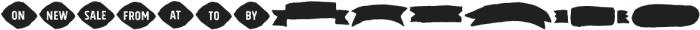 Gliny Extras otf (400) Font LOWERCASE