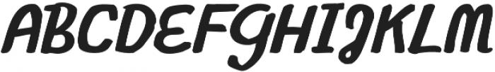Gliny Script otf (400) Font UPPERCASE