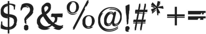 Glippy Regular otf (400) Font OTHER CHARS