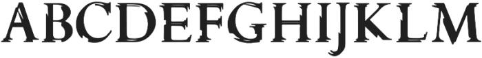 Glippy Regular otf (400) Font UPPERCASE