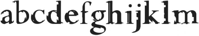 Glippy Regular otf (400) Font LOWERCASE