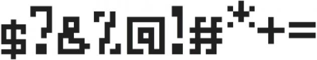 Glitch otf (400) Font OTHER CHARS