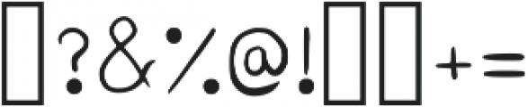 Glob Regular otf (400) Font OTHER CHARS