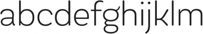 Globa ExtraLight otf (200) Font LOWERCASE
