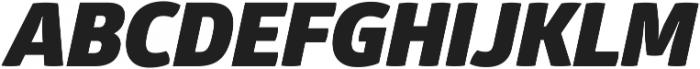 Glober Black Italic ttf (900) Font UPPERCASE