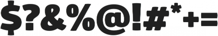 Glober Black otf (900) Font OTHER CHARS