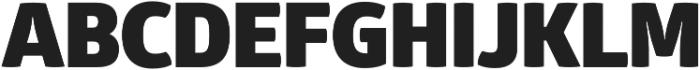 Glober Black otf (900) Font UPPERCASE