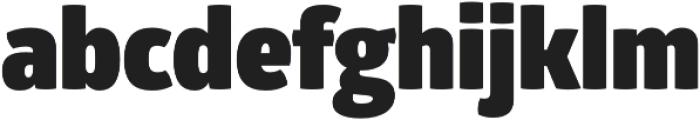 Glober Black otf (900) Font LOWERCASE