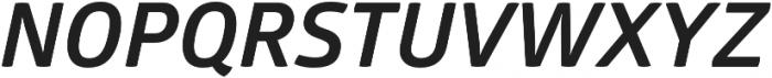 Glober Bold Italic otf (700) Font UPPERCASE