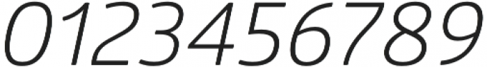 Glober Book Italic otf (400) Font OTHER CHARS