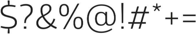 Glober Book otf (400) Font OTHER CHARS