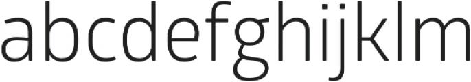Glober Book otf (400) Font LOWERCASE