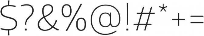 Glober Light otf (300) Font OTHER CHARS