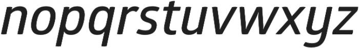 Glober SemiBold Italic otf (600) Font LOWERCASE