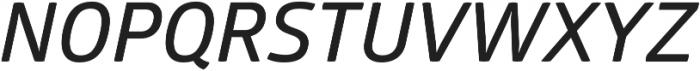 Glober SemiBold Italic ttf (600) Font UPPERCASE
