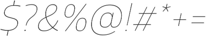 Glober Thin Italic ttf (100) Font OTHER CHARS