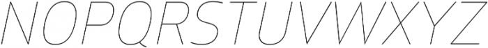 Glober Thin Italic ttf (100) Font UPPERCASE