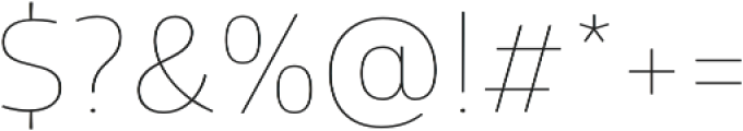 Glober Thin otf (100) Font OTHER CHARS