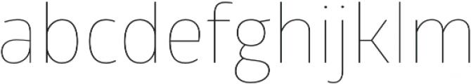Glober Thin otf (100) Font LOWERCASE