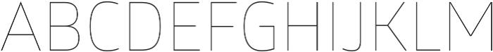 Glober Thin ttf (100) Font UPPERCASE