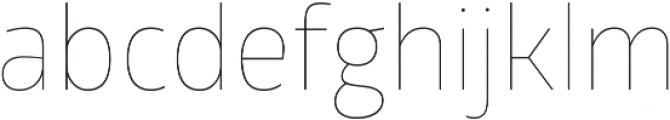Glober Thin ttf (100) Font LOWERCASE