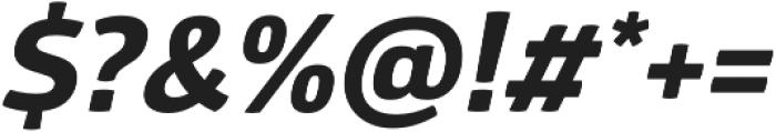Glober xBold Italic otf (700) Font OTHER CHARS