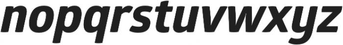 Glober xBold Italic otf (700) Font LOWERCASE