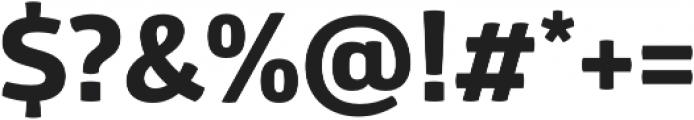 Glober xBold otf (700) Font OTHER CHARS