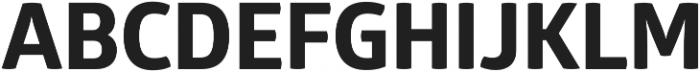 Glober xBold otf (700) Font UPPERCASE