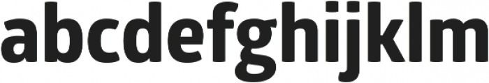 Glober xBold ttf (700) Font LOWERCASE