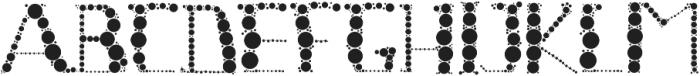 Globule Circle Font otf (400) Font UPPERCASE