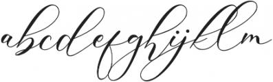 Gloresia otf (400) Font LOWERCASE