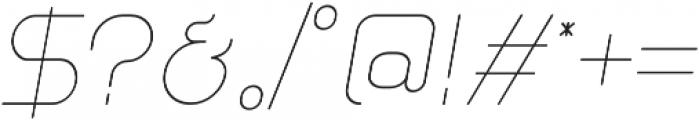 Glorifie otf (100) Font OTHER CHARS