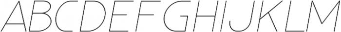 Glorifie otf (100) Font UPPERCASE