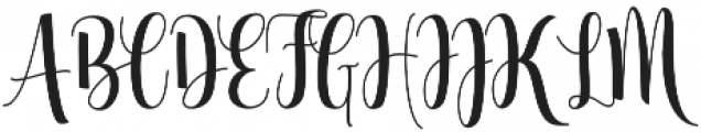Glorious otf (400) Font UPPERCASE