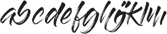 Gloss And Bloom Alternates ttf (400) Font LOWERCASE
