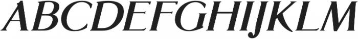 Glosso Novum Bold Italic otf (700) Font UPPERCASE