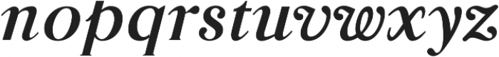Glosso Novum Bold Italic otf (700) Font LOWERCASE