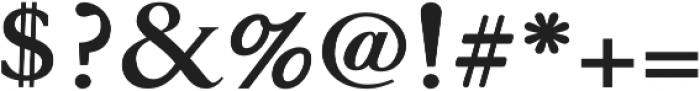 Glosso Novum Bold otf (700) Font OTHER CHARS