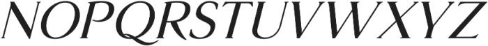 Glosso Novum Italic otf (400) Font UPPERCASE