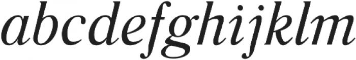 Glosso Novum Italic otf (400) Font LOWERCASE