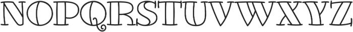 Glotona White otf (400) Font UPPERCASE