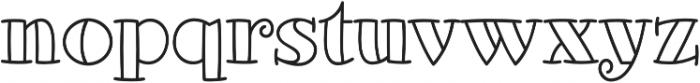 Glotona White otf (400) Font LOWERCASE