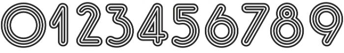 Gluck Stripes otf (400) Font OTHER CHARS