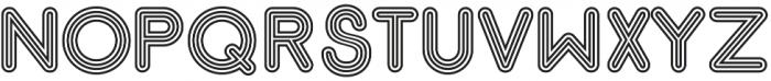 Gluck Stripes otf (400) Font UPPERCASE