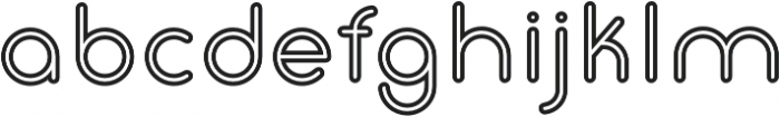 Gluck Stroked otf (400) Font LOWERCASE