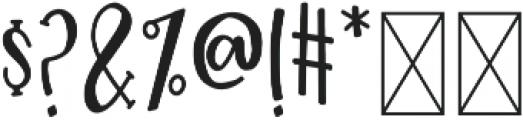 GlueGun Regular otf (400) Font OTHER CHARS